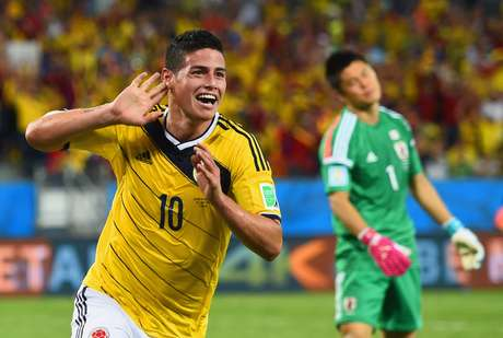 <p>Armador colombiano, James Rodr&iacute;guez &eacute; um dos melhores jogadores do Mundial</p>