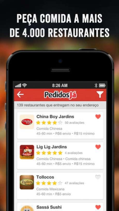 Aplicativo da PedidosJá na App Store