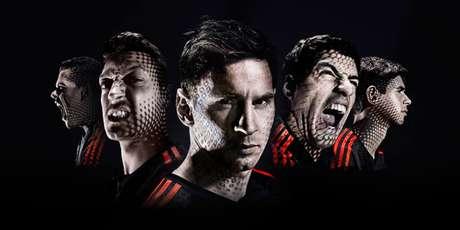 Suárez faz parte das propagandas da Adidas na Copa, ao lado de Messi