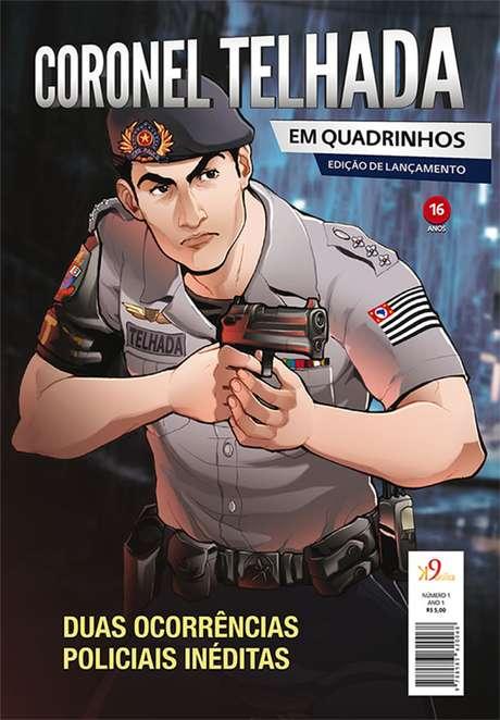 A revista dob Coronel Telhada circula no Rio de Janeiro e em São Paulo. São cerca de 10 mil exemplares