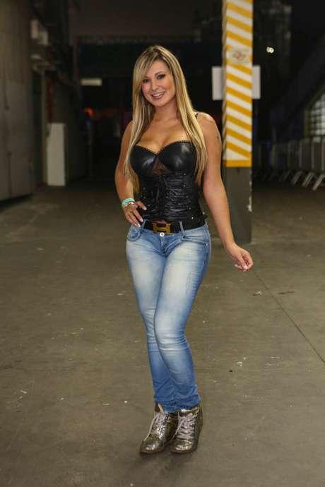 <p>Andressa Urach ficou conhecida após ficar em segundo lugar no concurso Miss Bumbum</p>
