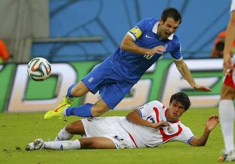 <p>Giorgos Karagounis fez seu último jogo pela Grécia</p>