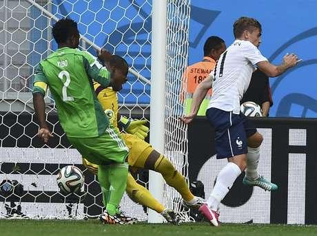 <p>Griezmann comemora gol contra em vitória francesa</p>