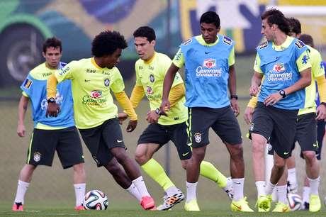 <p>Seleção Brasileira se prepara para encarar a Colômbia</p>