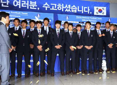 """Protesto de torcedores faz referência a expressão comum na Coreia do Sul, equivalente a um """"vá se ferrar"""""""