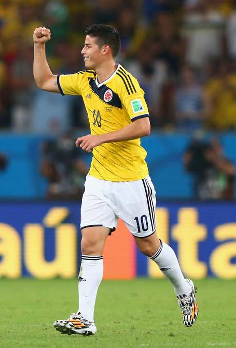 <p>ColombianoJames Rodríguez é o artilheiro da Copa</p>