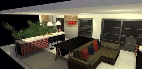 <p>Arquitetos ampliaram espaço integrando varanda à sala</p>