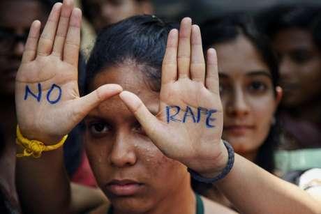 Mulheres protestam contra os estupros na Índia