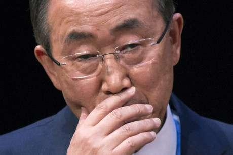 <p>Secretário-geral da ONU, Ban Ki-moon,disse que otexto foi aprovado por unanimidade</p>