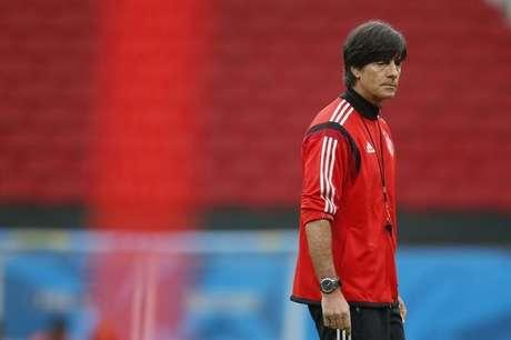 Técnico da seleção da Alemanha, Joachim Loew, durante treino no estádio Beira-Rio, em Porto Alegre. 29/06/2014.