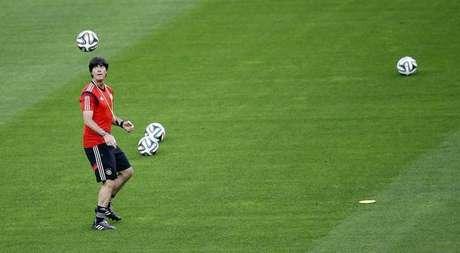 Técnico da seleção da Alemanha, Joachim Loew durante treino em Belo Horizonte. 07/07/2014.