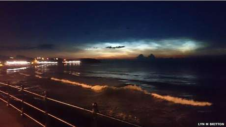 <p>As nuvens noctilucentes se formam a 85 km de altura, uma altitude oito vezes maior que as outras</p>