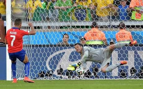 Júlio César foi o herói da última partida da Seleção em Belo Horizonte, defendendo dois pênaltis contra o Chile