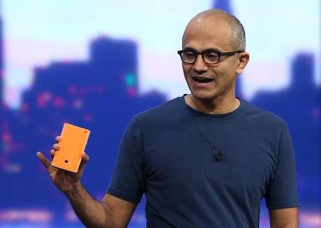 <p>Satya Nadella, presidente- executivo da Microsoft</p>
