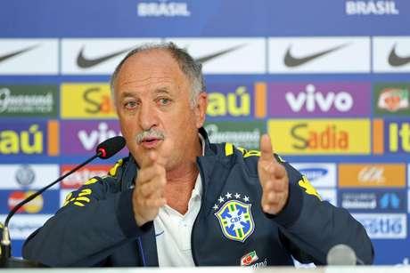 Luiz Felipe Scolari durante coletiva de imprensa no dia seguinte à derrota contra a Alemanha
