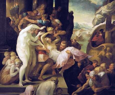 <p>O rapto de Helena (1530 - 39), por Francesco Primaticcio</p>