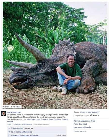 Piada com foto de Spielberg revoltou alguns seguidores desavisados