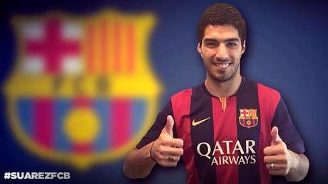<p>Su&aacute;rez ficar&aacute; afastado de seus companheiros de Barcelona por meses</p>