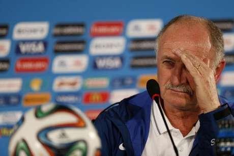 <p>Técnico da seleção brasileira, Luiz Felipe Scolari, após derrotacontra a Holanda</p>