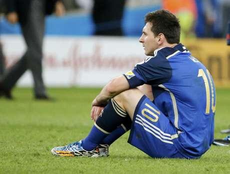 <p>Messi sai da Copa do Mundo sem o aguardado título de campeão mundial</p>
