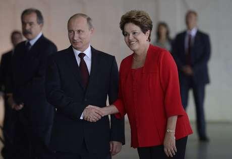 Dilma recebe o presidente da Rússia, Vladimir Putin