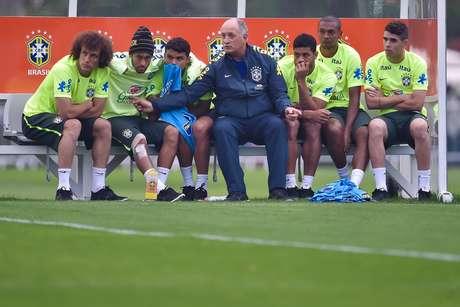 Luiz Felipe Scolari comandou poucos treinos táticos e técnicos com os titulares na Copa do Mundo