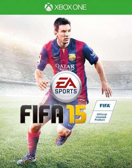 <p>Messi é a estrela da capa de 'Fifa 15'</p>