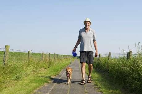 <p>Além de se movimentar, cachorro também ajuda idosos a terem mais vida social</p>