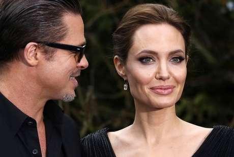 Brad Pitt e Angelina Jolie em Londres. 08/05/2014