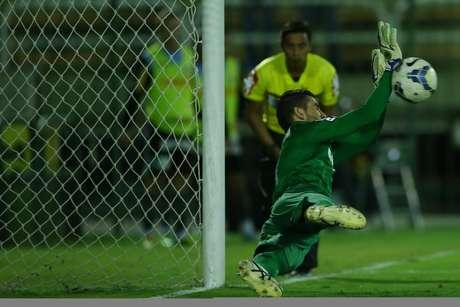<p>Vanderlei chega com a missão de substituir Aranha no gol santista</p>
