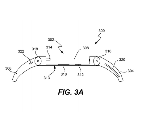 <p>Na patente, display pode ser retirado da pulseira e usado sozinho, como um iPod nano</p>