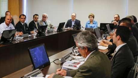 <p>Dilma se reuniu com o Bom Senso FC</p>