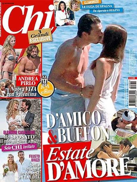 <p>Revista Chi publicou fotos de Buffon e Ilaria D'Amica juntos em um iate</p>