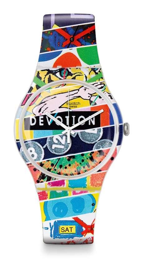 Um dos modelos de relógio comercializados pela Swatch