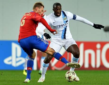 Yaya Touré, do Manchester City, foi vítima de insultos racistas na Rússia