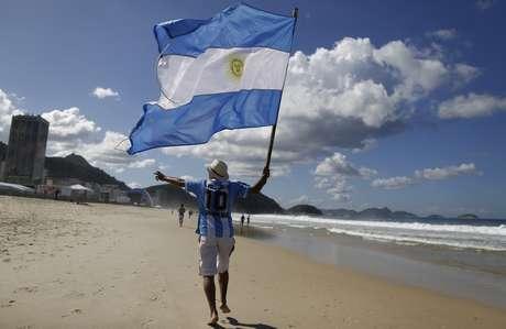 <p>Cerca de 160 mil de argentinos vieram ao Brasil para acompanhar a Copa do Mundo</p>