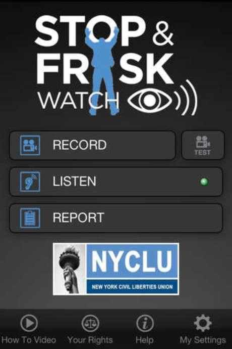 O aplicativo Stop & Frisk Watch possui versões em inglês e espanhol e permite ao usuário gravar, em áudio e vídeo