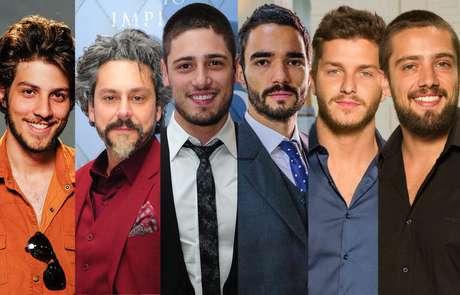 """Chay Suede, Alexandre Nero, Daniel Rocha, Caio Blat, Klebber Toledo e Rafael Cardoso são os principais nomes do elenco masculino de """"Império"""" que ostentam barbas bem cuidadas e cheias de estilo"""