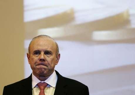<p>O ministro da Fazenda, Guido Mantega, durante seminário na Câmara dos Deputados, em abril, em Brasília</p>