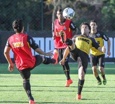 Depois do treino de sábado, jogadores do Atlético-MG não ficaram concentrados no CT