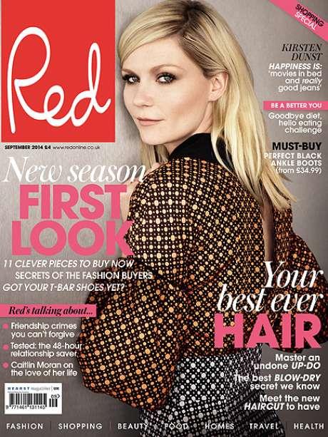 Kirsten Dunst é capa da revista Red