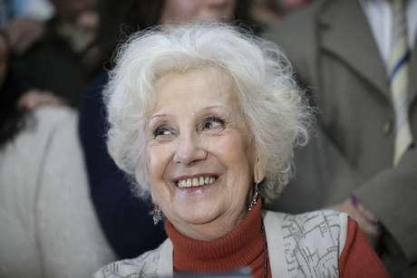 <p>Estela de Carlotto, presidente das Avós da Praça de Maio participa decoletiva de imprensa em Buenos Aires, em 5 de agosto</p><p></p>