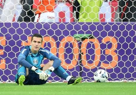 <p>Marcelo Grohe no ano passado: foi eleito o melhor goleiro do Brasileiro</p>