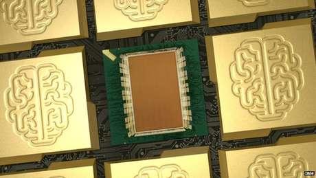 <p>Chip &eacute; o resultado de anos de coopera&ccedil;&atilde;o entre cientistas, coordenados pela empresa IBM, e foi apresentado na revista cient&iacute;fica Science</p>