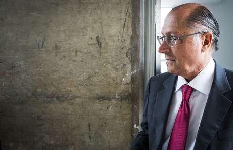 <p>Geraldo Alckmin esteve em&nbsp;debate realizado na sede do SBT, em Osasco</p>