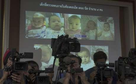 <p>Polícia divulgou fotos dos filhos de Shigeta</p>