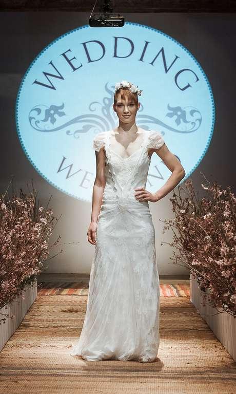 """<p class=""""text"""">Além de reunir dezenas de fornecedores de produtos e serviços para festas de casamento, o Wedding Weekend mostrou ainda tendências da moda para noivas</p>"""
