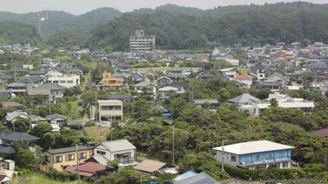 <p>Vista geral de Onjuku, um dos munic&iacute;pios que podem perder mais da metade da popula&ccedil;&atilde;o at&eacute; 2040</p>