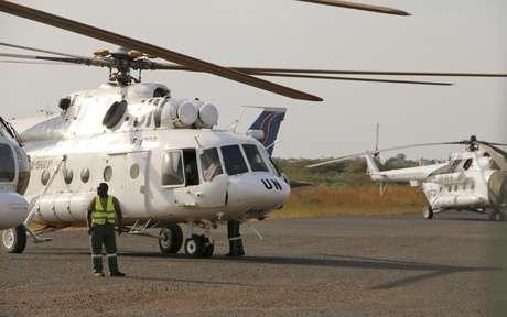 Três pessoas morreram na queda do helicóptero da ONU e um quarto tripulante sobreviveu com ferimentos (foto de arquivo)
