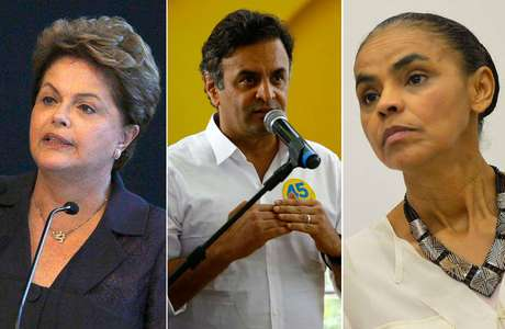 <p>Dilma Rousseff, Aécio Neves e Marina Silva</p>